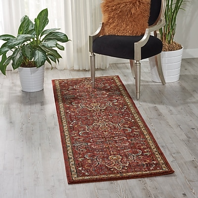 Charlton Home Mainville Red Area Rug; Runner 2'3'' x 8'