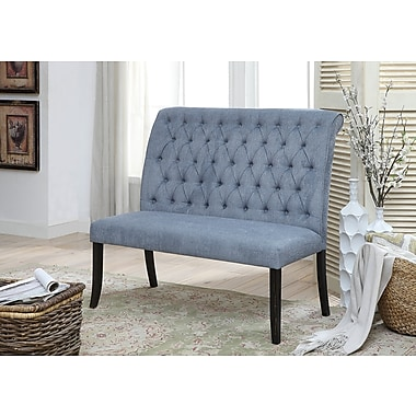 Darby Home Co Tomasello Transitional Bench; Blue