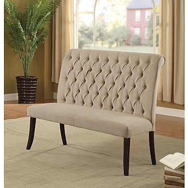Darby Home Co Tomasello Transitional Bench; Ivory