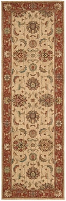 Darby Home Co Crownover Ivory/Red Area Rug; Runner 2'6'' x 12'