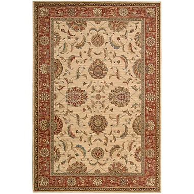 Darby Home Co Crownover Ivory/Red Area Rug; Rectangle 8'3'' x 11'3''