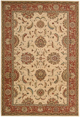 Darby Home Co Crownover Ivory/Red Area Rug; Rectangle 5'6'' x 8'3''