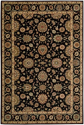 Darby Home Co Crownover Black Area Rug; Rectangle 3'6'' x 5'6''