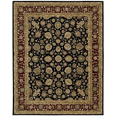 Darby Home Co Ellerswick Hand Woven Wool Red/Black Indoor Area Rug; Rectangle 2'6'' x 4'3''