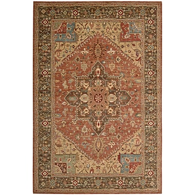 Darby Home Co Crownover Rust Area Rug; Rectangle 3'6'' x 5'6''