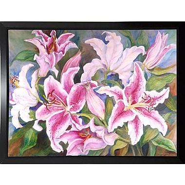 Winston Porter 'Lilies Of The Field' Print; Black Plastic Framed Paper