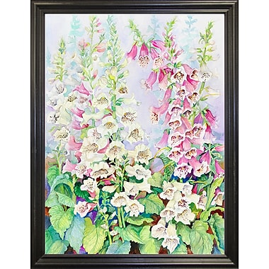 Winston Porter 'Summer Foxglove' Print; Black Wood Grande Framed Paper