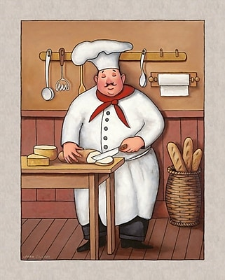 Winston Porter 'Chef 3' Graphic Art Print; Rolled Canvas
