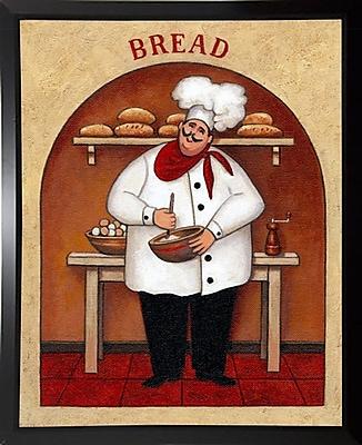 Winston Porter 'Bread' Graphic Art Print; Black Plastic Framed Paper