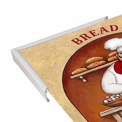 Winston Porter 'Bread' Graphic Art Print; White Metal Framed Paper