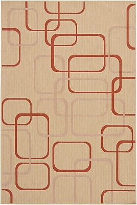 Corrigan Studio Annabel Wool Beige Geometric Area Rug; 8' x 11'