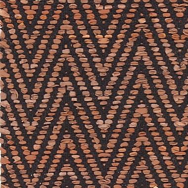 Brayden Studio Salley Hand-Woven Brown/Black Area Rug; 7'9'' x 10'6''