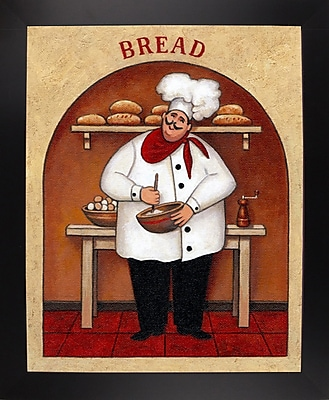 Winston Porter 'Bread' Graphic Art Print; Black Wood Large Framed Paper