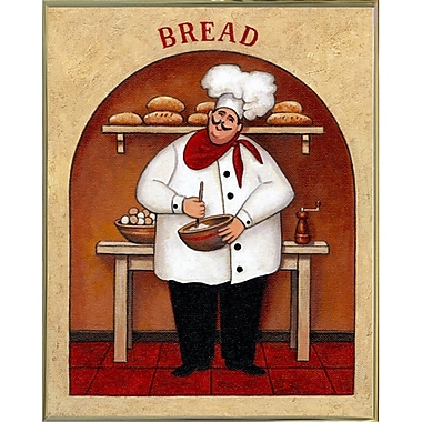 Winston Porter 'Bread' Graphic Art Print; Gold Metal Framed Paper