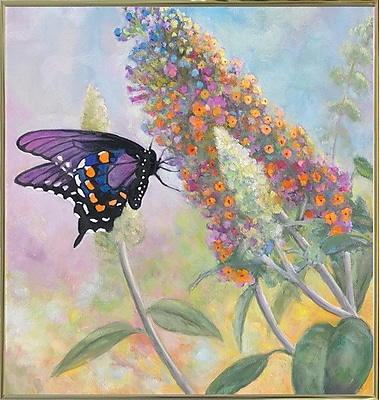 Winston Porter 'Admiral Butterfly' Graphic Art Print; Gold Metal Framed