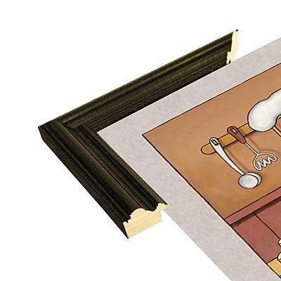 Winston Porter 'Chef 3' Graphic Art Print; Black Wood Grande Framed Paper