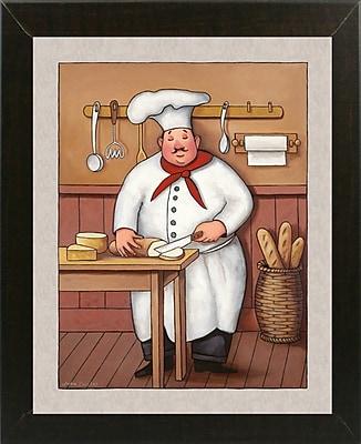 Winston Porter 'Chef 3' Graphic Art Print; Brazilian Walnut Wood Medium Framed Paper