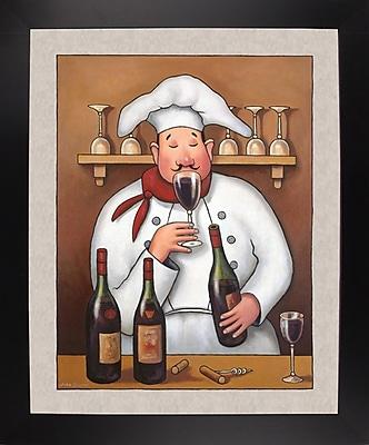 Winston Porter 'Chef 1' Graphic Art Print; Black Wood Large Framed Paper