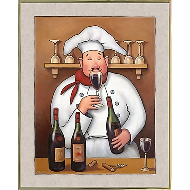 Winston Porter 'Chef 1' Graphic Art Print; Gold Metal Framed Paper