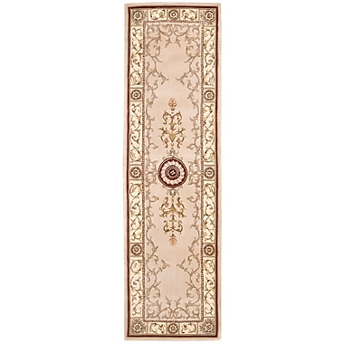 Astoria Grand Villiam Tufted / Hand Woven Wool Beige Area Rug; Runner 2'3'' x 8'