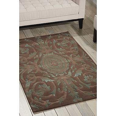 Astoria Grand Zaniel Hand-Tufted Mocha Area Rug; 3'6'' x 5'6''