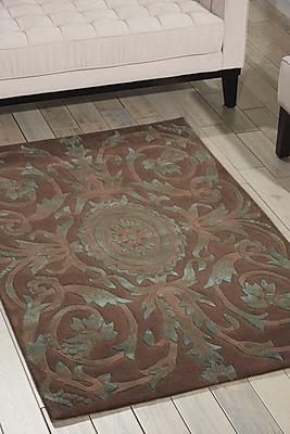 Astoria Grand Zaniel Hand-Tufted Mocha Area Rug; 3'6'' x 5'6''