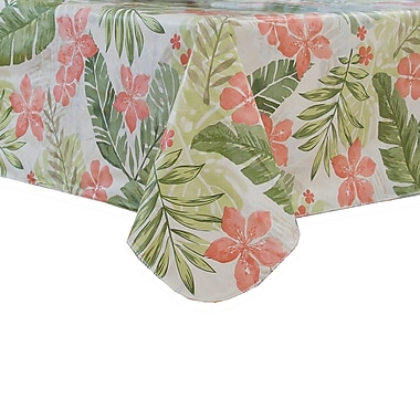 Bayou Breeze Chontel Floral Vinyl Tablecloth; 60'' H x 120'' W