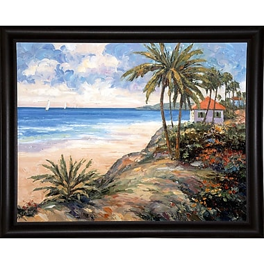 Bay Isle Home 'Coastal Light' Graphic Art Print; Bistro Expresso Framed Paper