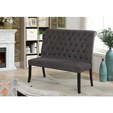 Darby Home Co Tomasello Transitional Bench; Dark Gray