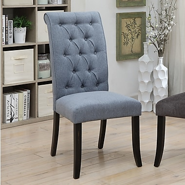Darby Home Co Tomasello Transitional Upholstered Dining Chair (Set of 2); Blue