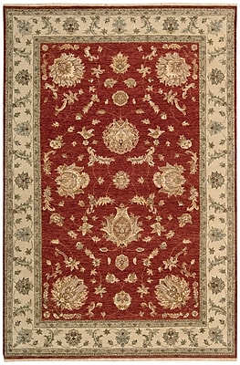 Darby Home Co Degory Hand-Knotted Red Area Rug; 8'6'' x 11'6''