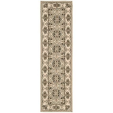 Darby Home Co Ehrenfeld Hand-Hooked Brown Area Rug; Runner 2'3'' x 8'