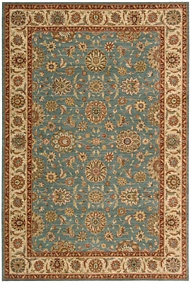 Darby Home Co Crownover Teal Blue/Tan Area Rug; Rectangle 5'6'' x 8'3''