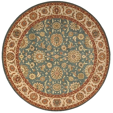 Darby Home Co Crownover Teal Blue/Tan Area Rug; Round 5'10''