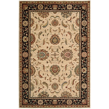 Darby Home Co Crownover Wool Ivory/Black Indoor Area Rug; Rectangle 3'6'' x 5'6''