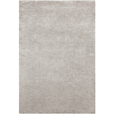 Orren Ellis Leet Solid Gray Area Rug; 7'9'' x 10'6''