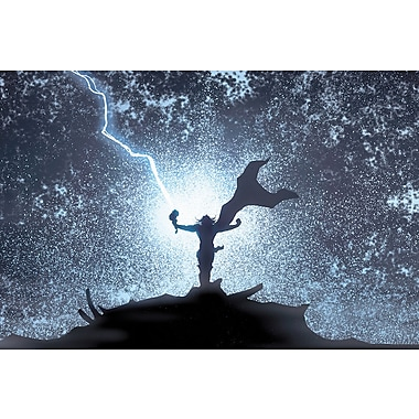 iCanvas 'Marvel Avengers Thor Silhouette' by Marvel Comics Graphic Art on Wrapped Canvas