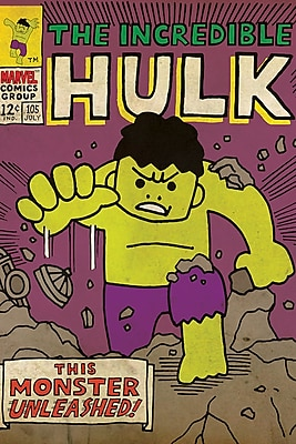 iCanvas 'Marvel Comics Retro the Incredible Hulk' by Marvel Comics Graphic Art on Wrapped Canvas