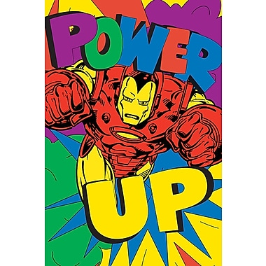 iCanvas 'Marvel Comics Retro Iron Man' by Marvel Comics Graphic Art on Wrapped Canvas