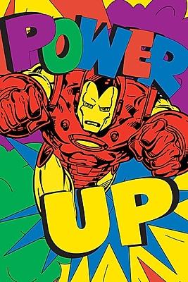 iCanvas 'Marvel Comics Retro Iron Man' by Marvel Comics Graphic Art on Wrapped Canvas