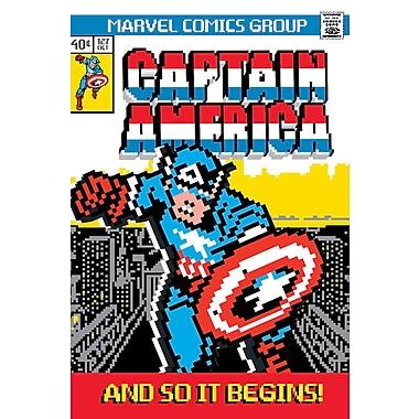 iCanvas 'Marvel Comics Retro Captain America' by Marvel Comics Graphic Art on Wrapped Canvas