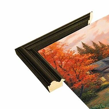 Loon Peak 'Together at Dusk' Graphic Art Print; Black Wood Grande Framed Paper