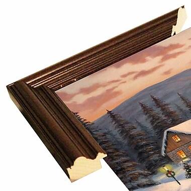 Loon Peak 'Skaters' Graphic Art Print; Cherry Wood Grande Framed Paper