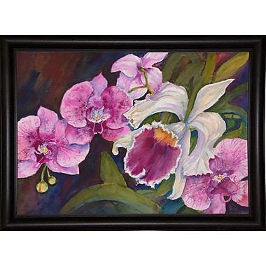 Winston Porter 'Orchid' Print; Bistro Expresso Framed Paper