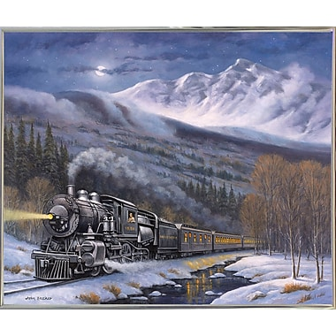 Loon Peak 'Union Pacific' Graphic Art Print; Silver Metal Framed
