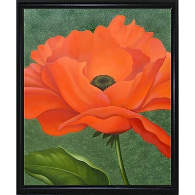 Winston Porter 'Red Poppy' Graphic Art Print; Flat Back Metal Framed