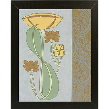 Winston Porter 'Tan Tulip w/ Right Border' Graphic Art Print