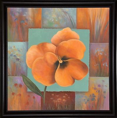 Winston Porter 'Orange Patchwork' Print; Bistro Expresso Framed Paper