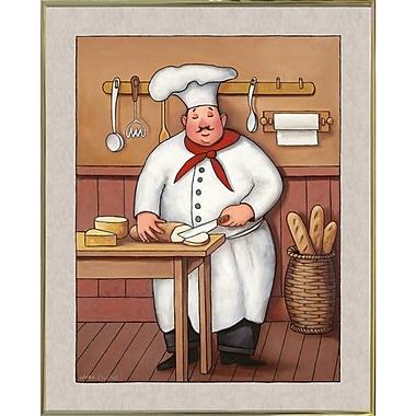 Winston Porter 'Chef 3' Graphic Art Print; Gold Metal Framed Paper