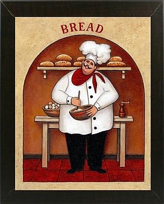 Winston Porter 'Bread' Graphic Art Print; Brazilian Walnut Wood Medium Framed Paper